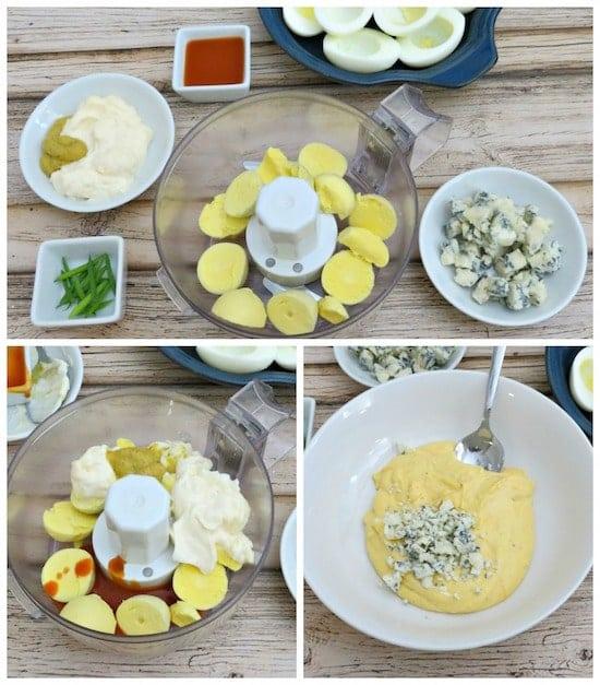 Buffalo Deviled Eggs Recipe Process