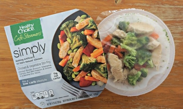 Healthy Choice Simply Café Steamers Packaging