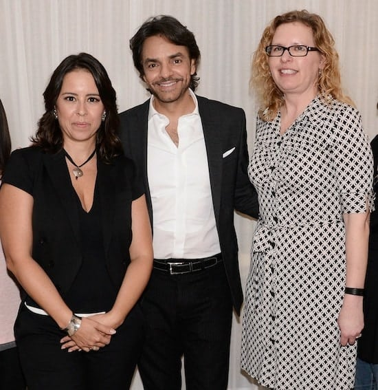 """Director Patricia Riggen and Eugenio Derbez seen at Columbia Pictures """"Miracles From Heaven"""" Photo Call at The London on Friday, March 4, 2016, in West Hollywood, CA. (Photo by Dan Steinberg/Invision for Sony Pictures/AP Images)"""
