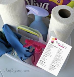 Printable Spring Cleaning Checklist – Time to Clean!
