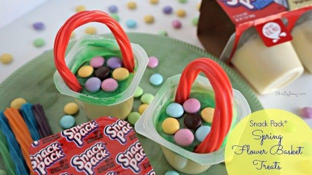Snack Pack Spring Flower Basket Treats Recipe
