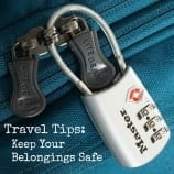 Travel Tips: Keep Your Belongings Safe