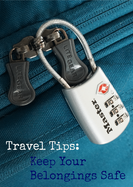 Travel Tips- Keep Your Belongings Safe