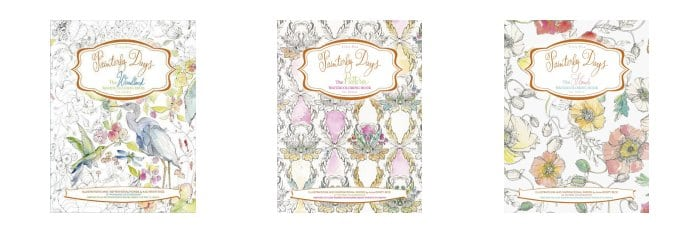 Painterly Days Watercoloring Books