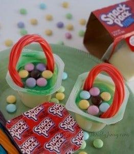 Springtime Flower Basket Treats with Snack Pack