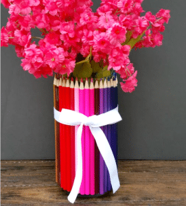 Homemade Teacher Appreciation Gift: Colored Pencil Vase