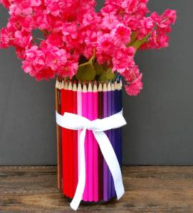 Homemade Teacher Appreciation Gift: Colored Pencil Vase