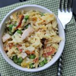Cheesy Chicken Orzo Casserole Recipe