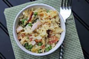 Cheesy Chicken Orzo Casserole Recipe