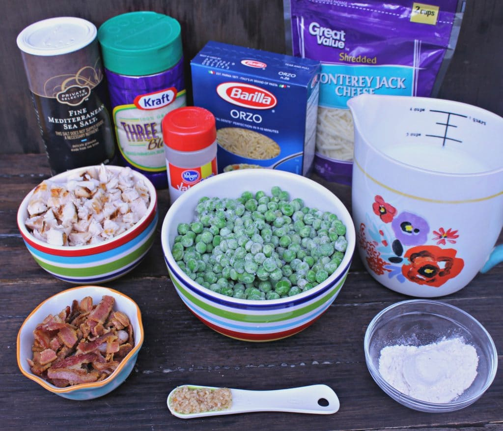 Cheesy Chicken Orzo Casserole Recipe ingredients
