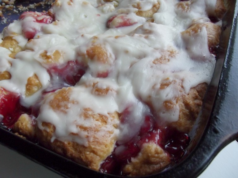 Cherry Coffee Cake with Bisquick