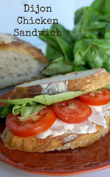 Dijon Chicken Sandwich on No-Knead Bread