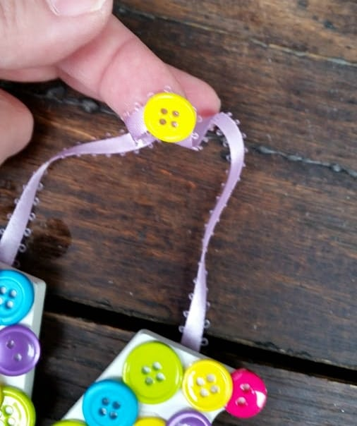 Mother's Day Button Letters Craft 6