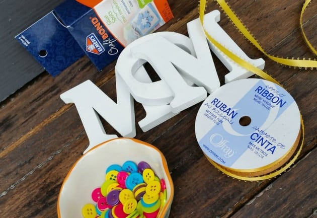 Mother's Day Button Letters Craft supplies