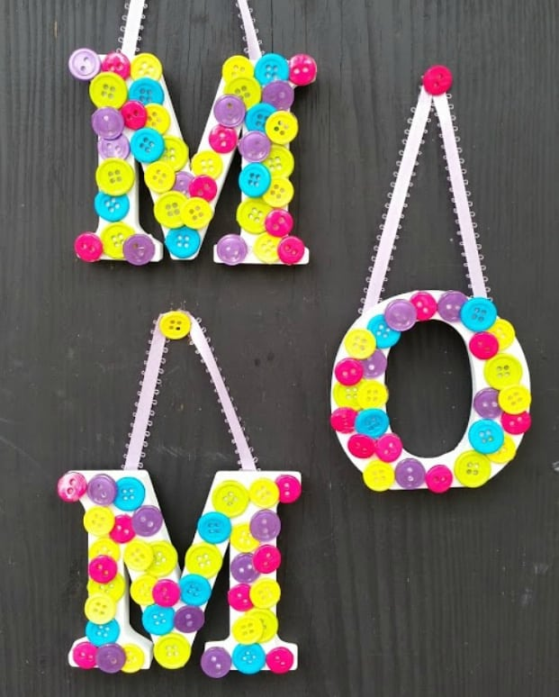 Mother's Day Button Letters Craft