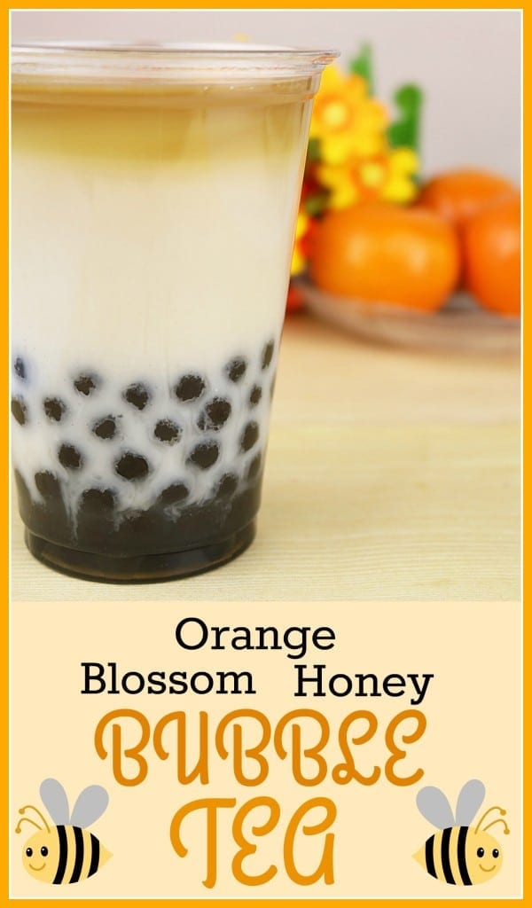 Orange Blossom Honey Bubble Tea Recipe (Boba Tea)
