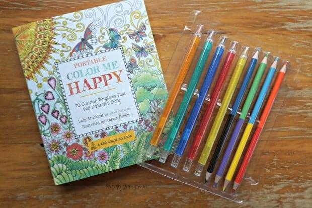Portable Color Me Happy Coloring Book