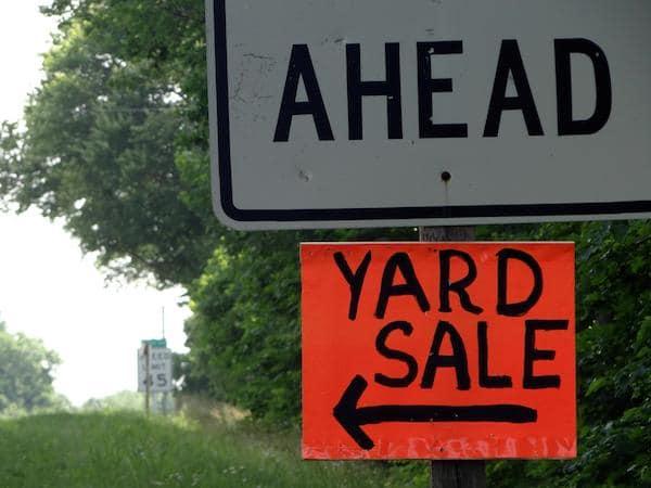 Yard Sale Ahead