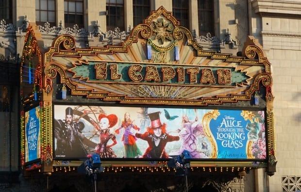 Alice Through the Looking Glass Premiere Marquis El Capitan Theater