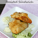 Baked Turkey Meatball Braided Sandwich pin