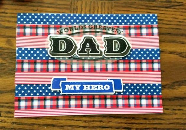 Homemade Washi Tape Father's Day Card