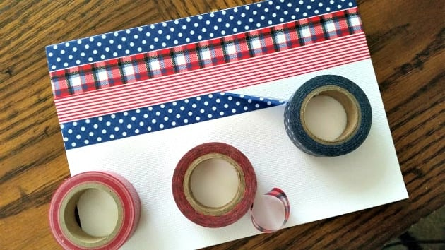 Homemade Washi Tape Father's Day Card step 1