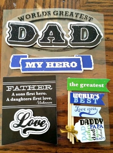 Homemade Washi Tape Father's Day Card step 2