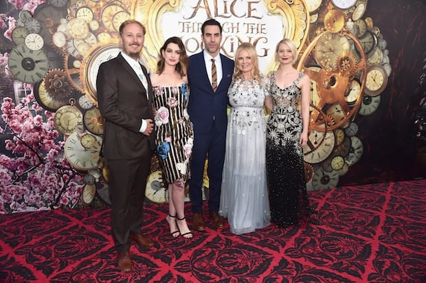 HOLLYWOOD, CA - MAY 23:  (L-R) Director James Bobin, actress Anne Hathaway, actor Sacha Baron Cohen, producer Suzanne Todd and actress Mia Wasikowska attend Disneyís 'Alice Through the Looking Glass' premiere with the cast of the film, which included Johnny Depp, Anne Hathaway, Mia Wasikowska and Sacha Baron Cohen at the El Capitan Theatre on May 23, 2016 in Hollywood, California.  (Photo by Alberto E. Rodriguez/Getty Images for Disney) *** Local Caption *** James Bobin; Anne Hathaway; Sacha Baron Cohen; Suzanne Todd; Mia Wasikowska