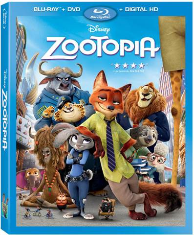 Zootopia Blu-Ray Bonus Features