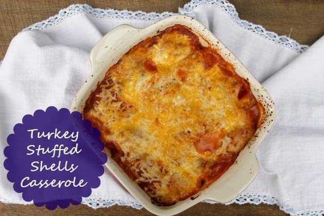 Turkey Stuffed Shells Casserole Recipe