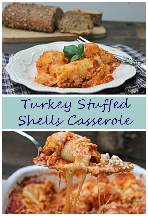 stuffed shells casserole pin