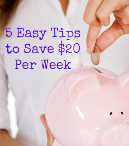Money Monster: 5 Easy Tips to Save $20 Per Week