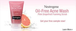 FREE Sample of Neutrogena Oil-Free Acne Wash Pink Grapefruit Foaming Scrub