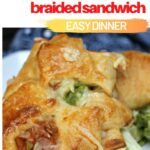 turkey meatball braided sandwich