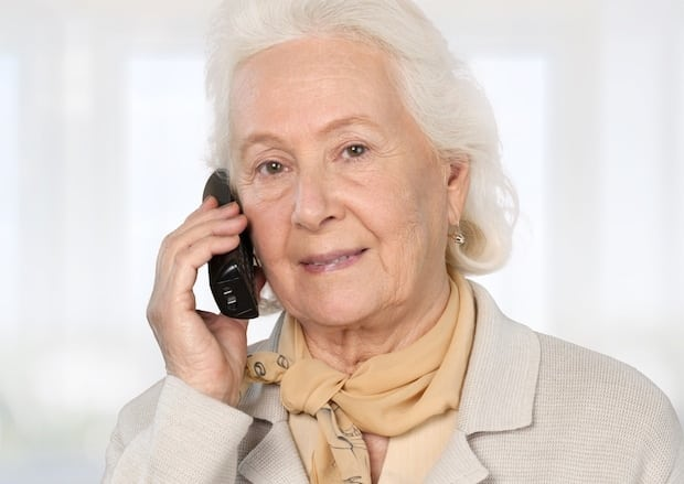 Senior Woman on Telephone
