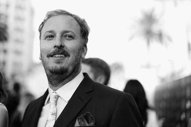 HOLLYWOOD, CA - MAY 23: (EDITORS NOTE: Image has been shot in black and white. Color version not available.) Director James Bobin attends Disneyís 'Alice Through the Looking Glass' premiere with the cast of the film, which included Johnny Depp, Anne Hathaway, Mia Wasikowska and Sacha Baron Cohen at the El Capitan Theatre on May 23, 2016 in Hollywood, California. (Photo by Charley Gallay/Getty Images for Disney) *** Local Caption *** James Bobin