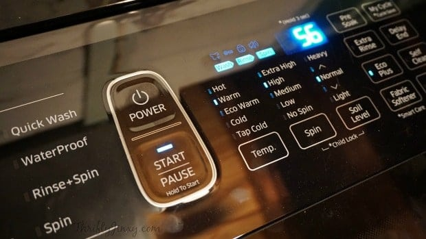 Samsung ActiveWash Washer Touch Controls Panel