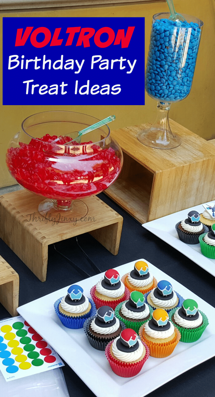 Voltron Birthday Party Treat Ideas With Cupcake Tutorial