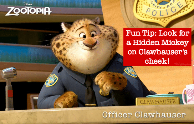 Zootopia Clawhauser Hidden Mickey