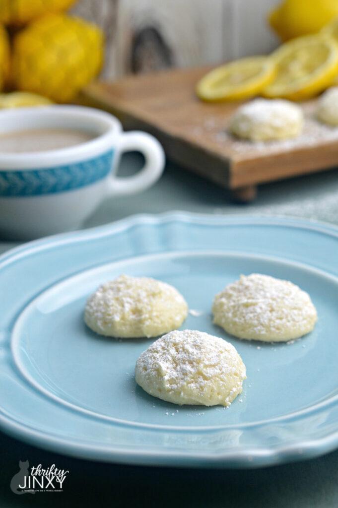 lemon ricotta cookies on plate