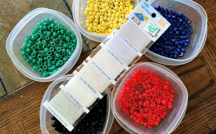 Olympic Rings Beaded Bracelet Craft supplies