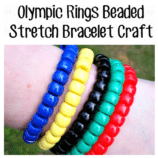 Olympic Rings Beaded Stretch Bracelet Craft