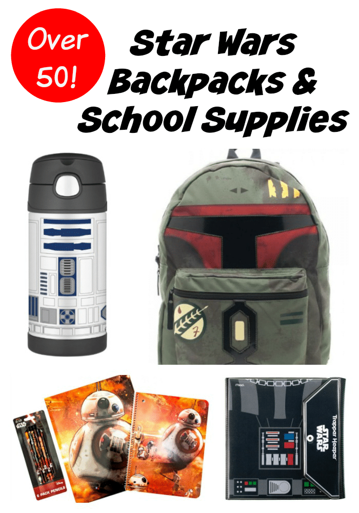 f881046f39f7 Star Wars Back to School Backpacks Supplies - 50 Items for a More ...