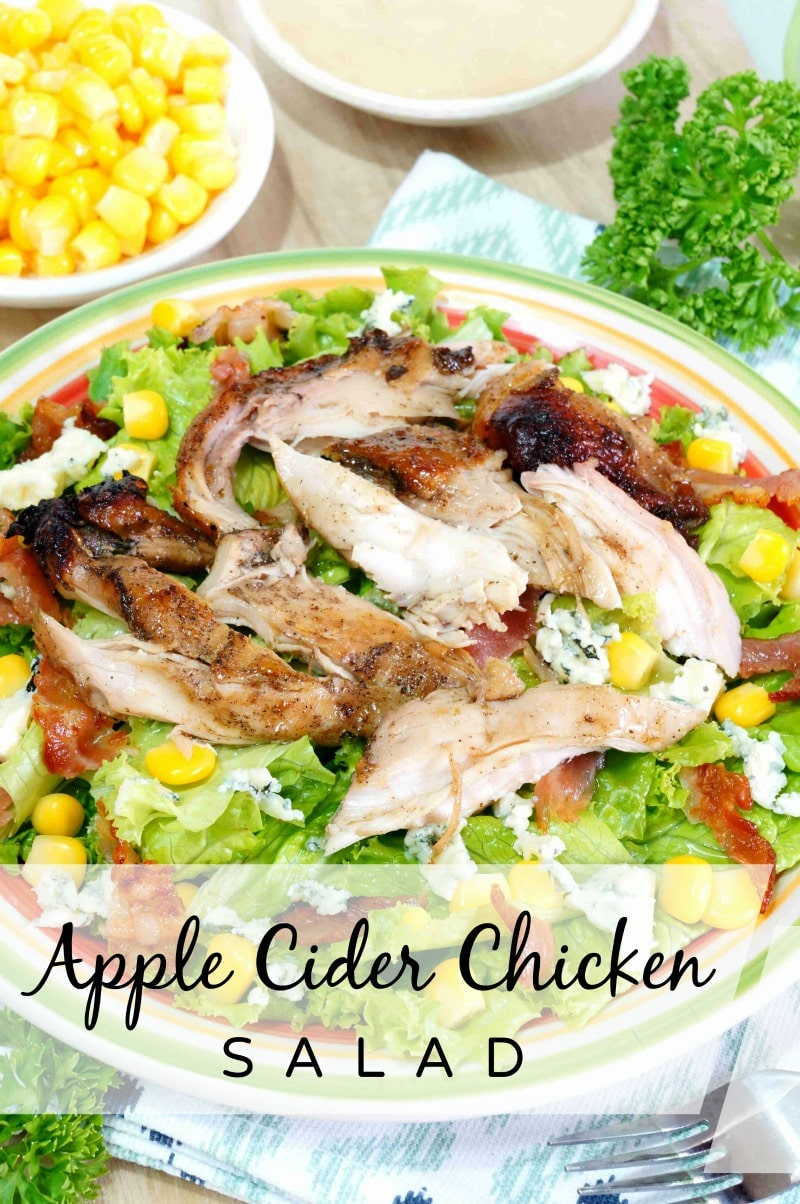This Apple Cider Chicken Salad Recipe is flavorful and delicious. Easily prepare extra chicken for a super quick follow-up meal another day!