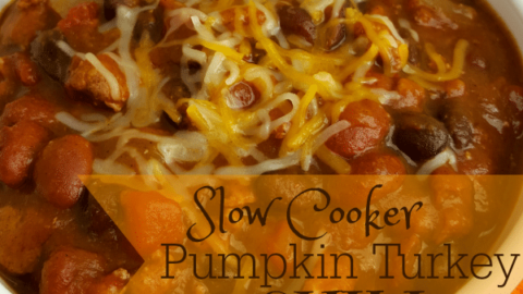 Slow Cooker Pumpkin Turkey Chili