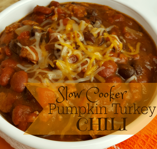 Crockpot Pumpkin Turkey Chili Recipe