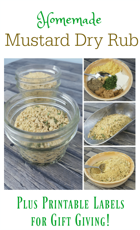 Homemade Mustard Dry Rub Recipe with Printable Labels for Gift Giving