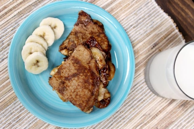Peanut Butter Chocolate and Banana Quesadillas Recipe - Thrifty Jinxy