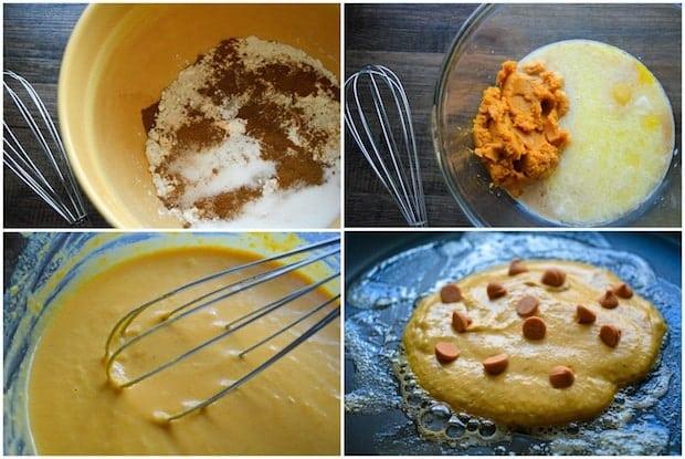 Pumpkin Butterscotch Pancakes Recipe Process