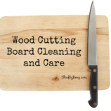 Wood Cutting Board Cleaning and Care